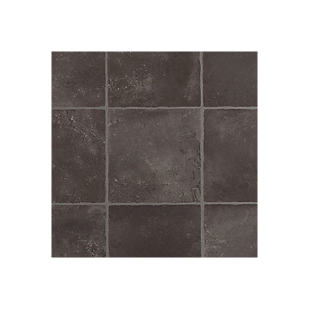 Colours kennedy black tile effect vinyl 4m sheet for Black tile effect vinyl flooring