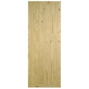 View Framed, Ledged & Braced Clear Pine Veneer Timber Unglazed External Front Door, (H)2032mm (W)813mm details