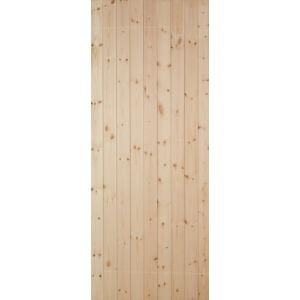 View Ledged & Braced Clear Pine Veneer Timber Unglazed External Front Door, (H)1981mm (W)838mm details
