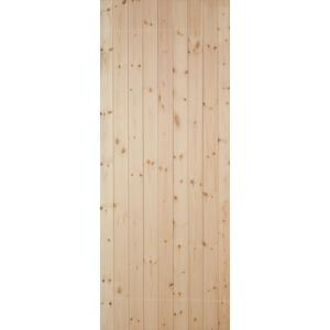 View Ledged & Braced Clear Pine Veneer Timber Unglazed External Front Door, (H)2032mm (W)813mm details