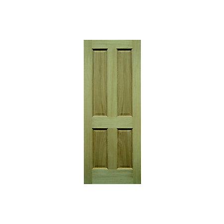 Oak veneer external front back door h 2032mm w 813mm for External back door