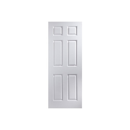 6 panel pre painted white woodgrain internal unglazed door - Pre painted white interior doors ...