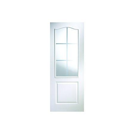 view 2 panel arched pre painted white woodgrain internal glazed door. Black Bedroom Furniture Sets. Home Design Ideas
