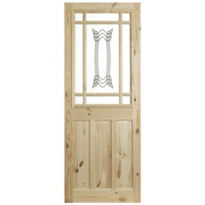 View 2 Panel Knotty Pine Glazed Internal Glazed Door, (H)2040mm (W)726mm details