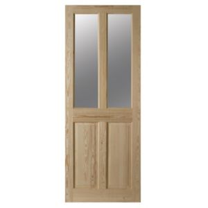 View 4 Panel Clear Pine Internal Glazed Door, (H)2040mm (W)826mm details