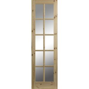 View 10 Lite Clear Glazed Pine Internal French Door Panel, (H)1981mm (W)579mm details
