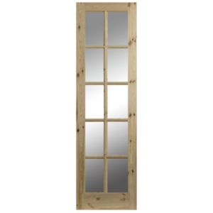 View 10 Lite Clear Glazed Pine Internal French Door Panel, (H)1981mm (W)290mm details