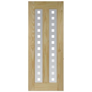 View 2 Panel Clear Pine Internal Glazed Door, (H)2040mm (W)826mm details