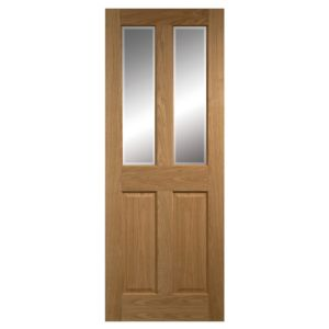 View 4 Panel Oak Veneer Glazed Internal Glazed Door, (H)2040mm (W)826mm details