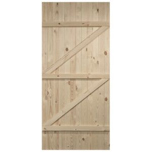 View Cottage Panelled lb Knotty Pine Internal Unglazed Door, (H)1981mm (W)610mm details