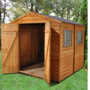View Blooma 7X7 Apex Overlap Wooden Shed - with Assembly Service details