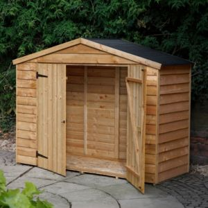 View 7X3 Overlap Apex Wooden Bike Store & Easy Fit Roof details