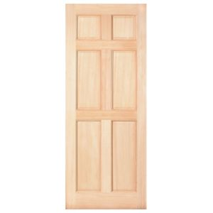 View Malaga Untreated Pine External Front/Back Door, (H)2032mm (W)813mm details