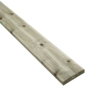 View Premium Green Softwood Reversible Deck Board (W)144mm (L)3600mm (T)28mm details