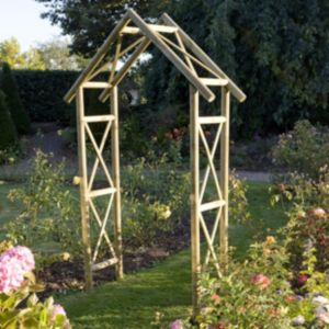 View Cottage Wooden Arch - with Assembly Service details