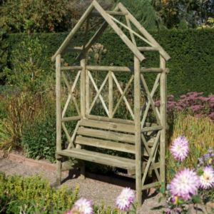 View Cottage Wooden Arbour - with Assembly Service details