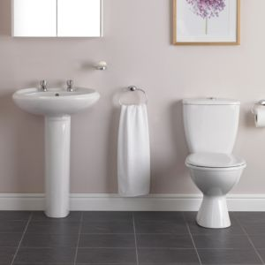 View Plumbsure Newbury Toilet, Basin & Tap Pack details