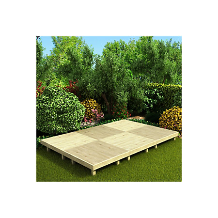 deck easy build softwood modular deck system On garden decking kits b q