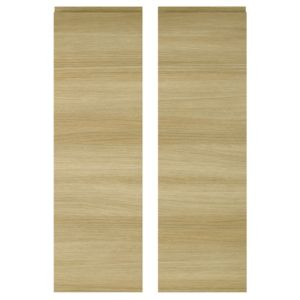View IT Kitchens Marletti Horizontal Oak Effect Larder Door (W)300mm, Set of 2 details