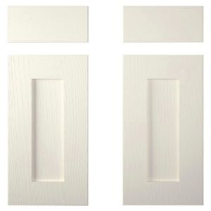 View Cooke & Lewis Carisbrooke Ivory Corner Base Drawerline Door (W)925mm, Set of 2 details