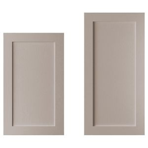 View Cooke & Lewis Carisbrooke Taupe Larder Door (W)600mm, Set of 2 details