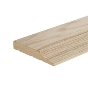 View Oak Veneer Timber Ogee Skirting (L)2400mm (W)120mm (T)18mm details