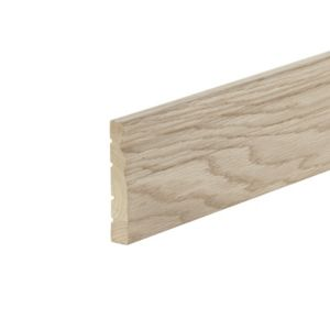 View Metsäwood Natural Oak Effect MDF Architrave (L)2150mm (W)95mm (T)18mm details