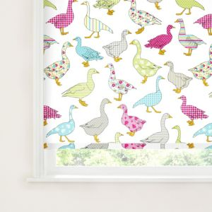 View Colours Nerine Corded Blue, Pink & White Roller Blind (L)160cm (W)180cm details