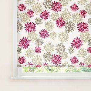 Bathroom Window Blinds B&Q colours valerian corded brown, red & white roller blind (l)160 cm