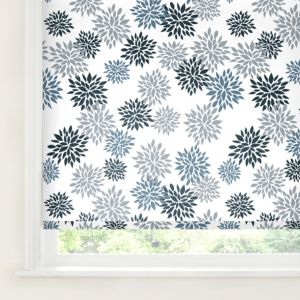 View Colours Valerian Corded Blue & White Roller Blind (L)160cm (W)180cm details