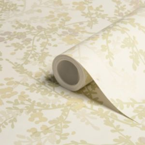 View Mayfield Floral Yellow Metallic Effect Wallpaper details