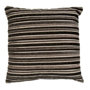 View Sedum Stripe Black Cushion details