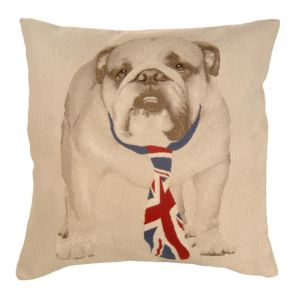 View Banksia Bulldog Blue, Cream & Red Cushion details