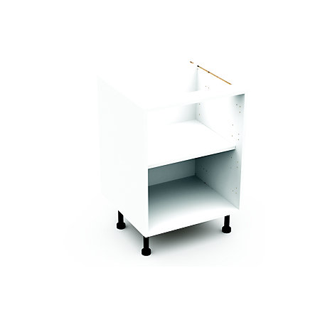 Cooke lewis clic white standard base cabinet unit for Kitchen cupboard carcasses 600mm
