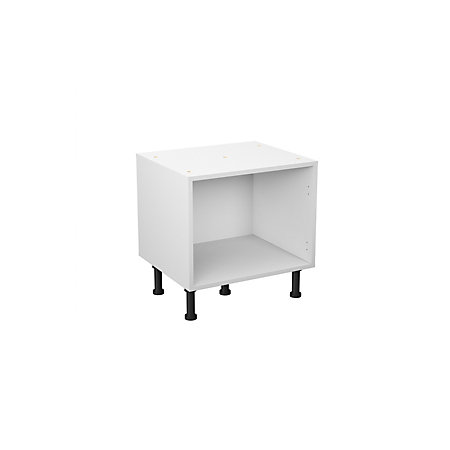 Cooke lewis clic white sink base unit carcass w 600mm for Kitchen cupboard carcasses 600mm