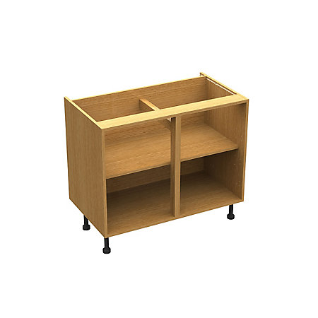 Cooke lewis clic oak effect standard base cabinet unit for 1000mm kitchen drawer unit