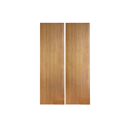Cooke lewis clic oak effect larder unit carcass w 600mm for Kitchen cupboard carcasses 600mm