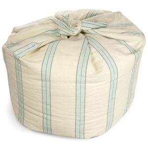 View Saunton Striped Cream & Duck Egg Bean Bag details