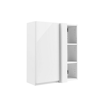 cooke lewis marletti gloss white corner wall cabinet departments