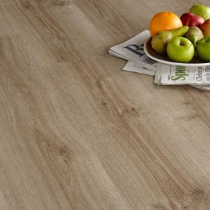 Colours Brown Natural Oak Effect Luxury Vinyl Click Flooring 1.76 m² Pack
