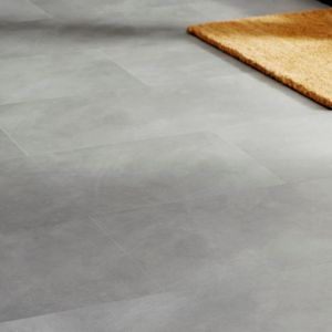 View Colours Grey Modern Stone Effect Luxury Vinyl Click Tile Flooring Pack 1.49 m² details