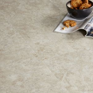 View Colours Modern Limestone Effect Luxury Vinyl Click Tile Flooring Pack 1.49 m² details