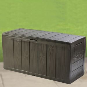 View Florida Wood-Effect Plastic Garden Storage Box details