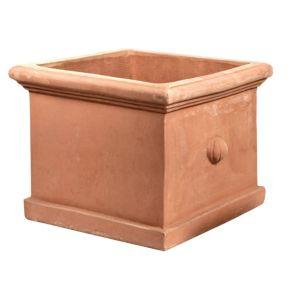 Dove Square Terracotta Planter (H)20cm (L)25cm