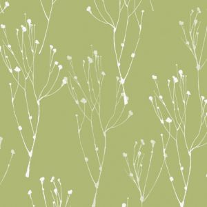 Lime blossom green white wallpaper departments diy for Green wallpaper for walls