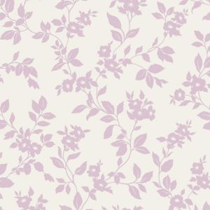 View Colours Paste The Wall, Not The Paper Mayflower Lilac & White Wallpaper details