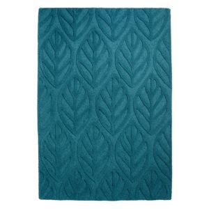 View Colours Tilly Turquoise Leaf Rug (L)1.7m (W)1.2m details