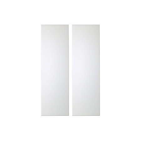 It kitchens santini gloss white slab tall larder door w for White gloss tall kitchen units