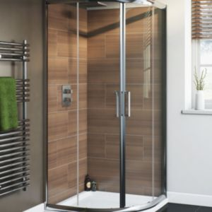 View Cooke & Lewis Nadina Quadrant Shower Enclosure, Tray & Waste (W)900mm (D)900mm details