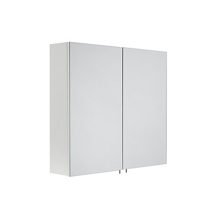 Varese Double Door White Mirror Cabinet